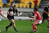 9th June 2017, Westpac Stadium, Wellington, New Zealand; International Womens Rugby; New Zealand versus Canada;  New Zealands Pip Love  (L) faced Canada's Amanda Thornborough
