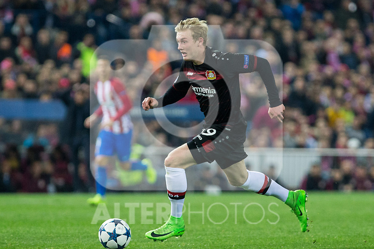 Julian Brandt of Bayer 04 Leverkusen during the match of Uefa Champions League between Atletico de Madrid and Bayer Leverkusen at Vicente Calderon Stadium  in Madrid, Spain. March 15, 2017. (ALTERPHOTOS / Rodrigo Jimenez)