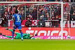 05.10.2019, Allianz Arena, Muenchen, GER, 1.FBL,  FC Bayern Muenchen vs. TSG 1899 Hoffenheim, DFL regulations prohibit any use of photographs as image sequences and/or quasi-video, im Bild Tor zum 1-2 durch Sargis Adamyan (Hoffenheim #23) nicht im bild mit Manuel Neuer (FCB #1) Ihlas Bebou (Hoffenheim #9) <br /> <br />  Foto © nordphoto / Straubmeier