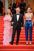 "CANNES, FRANCE. May 22, 2019: Sara Forestier, Arnaud Desplechin & Lea Seydoux at the gala premiere for ""Oh Mercy!"" at the Festival de Cannes.<br /> Picture: Paul Smith / Featureflash"