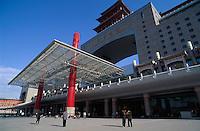China, Peking, neuer Bahnhof