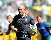 Aviva Premiership Final .Twickenham, England. Leicester Tigers director of rugby Richard Cockerill during the AVIVA Premiership Final between Harlequins and Leicester Tigers at Twickenham Stadium on May 26, 2012 in London, United Kingdom.