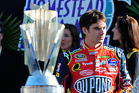 Nov. 16, 2008; Homestead, FL, USA; NASCAR Sprint Cup Series former champion Jeff Gordon during the Ford 400 at Homestead Miami Speedway. Mandatory Credit: Mark J. Rebilas-