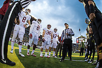 EUGENE, OR - NOVEMBER 1, 2014:  Coin Toss before Stanford's game against Oregon. The Ducks defeated the Cardinal 45-16.