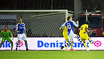 St Johnstone v Eskisehirspor....18.07.12  Uefa Cup Qualifyer.Potuk Alpers shot deflects of Liam Craig to give the turks a 1-0 lead.Picture by Graeme Hart..Copyright Perthshire Picture Agency.Tel: 01738 623350  Mobile: 07990 594431
