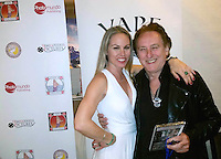 Christy Oldham, Denny Laine<br /> at the 'DemiGoddess Vape' Celebrity Lounge hosted by PhotoMundo Publishing, Westin Los Angeles Airport Hotel, Los Angeles, CA 07-09-16