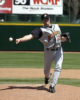 April 29, 2004:  Pitcher Matt Miller of the Buffalo Bisons, International League (AAA) affiliate of the Cleveland Indians, during a game at Frontier Field in Rochester, NY.  Photo by:  Mike Janes/Four Seam Images