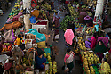 India - Manipur - Imphal - Overview of the fruit market.