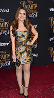 Rosanna Pansino at the premiere for Disney's &quot;Beauty and the Beast&quot; at El Capitan Theatre, Hollywood. Los Angeles, USA 02 March  2017<br /> Picture: Paul Smith/Featureflash/SilverHub 0208 004 5359 sales@silverhubmedia.com