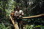 Nomadic Penan Hunter Gatherers Rainforest Sarawak