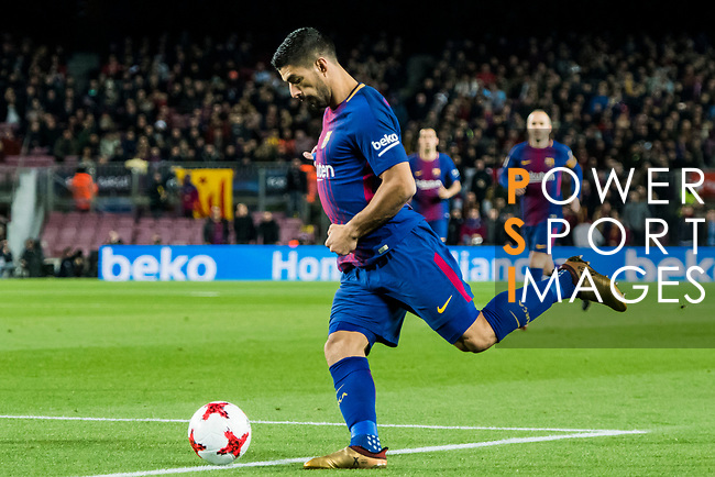 Luis Alberto Suarez Diaz of FC Barcelona in action during the Copa Del Rey 2017-18 Round of 16 (2nd leg) match between FC Barcelona and RC Celta de Vigo at Camp Nou on 11 January 2018 in Barcelona, Spain. Photo by Vicens Gimenez / Power Sport Images