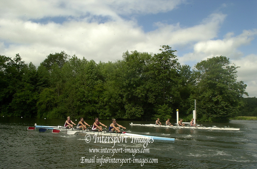 05/07/03/03 .2003 Henley Royal Regatta - Sat.Fawley Challenge Cup.Nearest [Berks] Marlow RC and The Kings School Worcester. [Bucks] St Peter's School 2003 Henley Royal Regatta Rowing Courses, Henley Reach , Henley Reach . HRR.