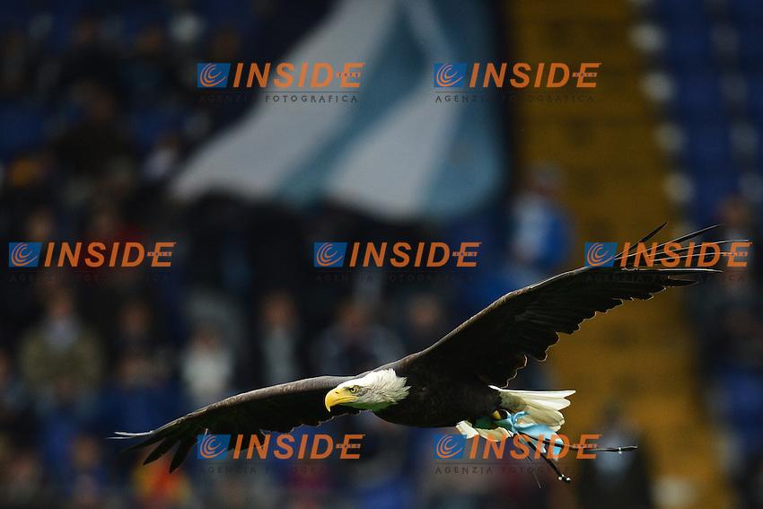 Olimpia l'aquila mascotte della Lazio. Eagle Olimpia.Roma 30/03/2013 Stadio Olimpico.Football Calcio 2012/2013 Serie A.Lazio Vs Catania 2-1.Foto Andrea Staccioli Insidefoto