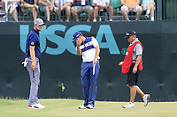 Sergio Garcia (ESP) misses his birdie putt on the 9th green during Saturday's Round 3 of the 117th U.S. Open Championship 2017 held at Erin Hills, Erin, Wisconsin, USA. 17th June 2017.<br /> Picture: Eoin Clarke | Golffile<br /> <br /> <br /> All photos usage must carry mandatory copyright credit (&copy; Golffile | Eoin Clarke)