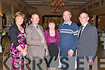 KERRY: Enjoying the fun at the Kerry Supporters annual dinner at the Ballygarry House hotel and Spa on Saturday l-r: Teresa O'Leary, Jimmy O'Brien, Carmel Mansfield, Paddy Townes and Patsy Cremin...