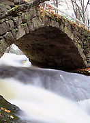 Gleason Falls Bridge which spans Beard's Brook in Hillsborough, New Hampshire.