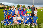 Tralee Parnells Camogie club at Caherslee on Tuesday night Pictured Front l-r Launa O'Connell. Emma McCluskey, Nora Caddigan, Danielle Griffin, Keylan Hickey and Emelina Gacek.Back l-r Holly Smith, Ciara Casey, Jessica O'Loughlin, Caoimhe Lyons, Elisha Dalton, Clodagh McCluskey, Katie Dwyer and Caoimhe Donnelly with Coaches Amy O'Loughlin, Seamus Caddigan and Richard McCluskey.The team are preparing to play in Croke Park on the 7th of July