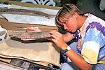 Kate Hazzard Working On Triceratops Bones