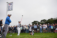 Bubba Watson (USA) watches his tee shot on 9 during round 1 of the 2019 US Open, Pebble Beach Golf Links, Monterrey, California, USA. 6/13/2019.<br /> Picture: Golffile | Ken Murray<br /> <br /> All photo usage must carry mandatory copyright credit (© Golffile | Ken Murray)