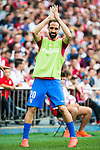 Atletico de Madrid's player Juanfran Torres during a match of La Liga Santander at Vicente Calderon Stadium in Madrid. September 17, Spain. 2016. (ALTERPHOTOS/BorjaB.Hojas)