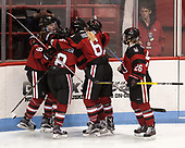 Kasidy Anderson (NU - 37), Andrea Renner (NU - 8), Shelby Herrington (NU - 6), Heather Mottau (NU - 26) - The Boston College Eagles defeated the Northeastern University Huskies 2-1 to win the Beanpot on Monday, February 7, 2017, at Matthews Arena in Boston, Massachusetts.