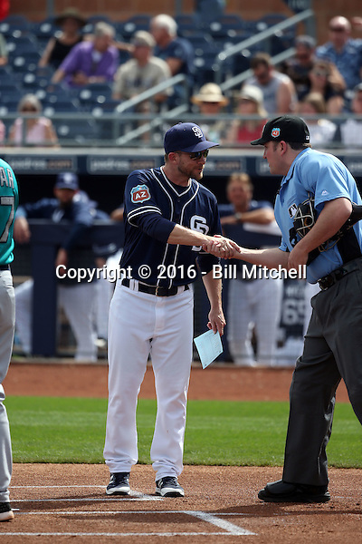 Andy Green, manager - San Diego Padres 2016 spring training (Bill Mitchell)