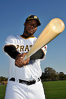 Feb 28, 2010; Bradenton, FL, USA; Pittsburgh Pirates  outfielder Brandon Jones (16) during  photoday at Pirate City. Mandatory Credit: Tomasso De Rosa/ Four Seam Images