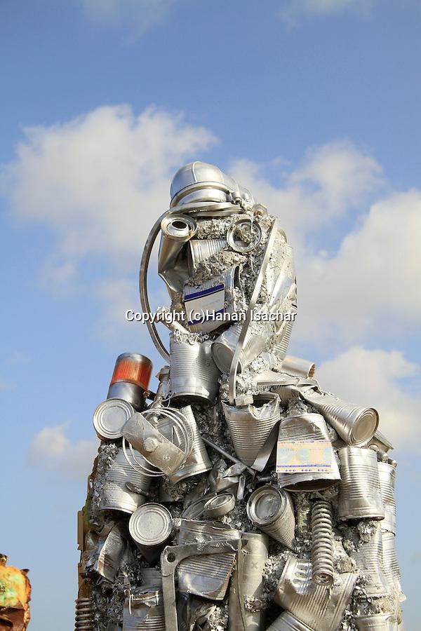 "Israel, artist HA Schul's ""Trash People"" exhibition at the Hiriya Recycling Park overlooking Tel Aviv"