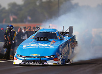 Aug 19, 2017; Brainerd, MN, USA; NHRA funny car driver John Force during qualifying for the Lucas Oil Nationals at Brainerd International Raceway. Mandatory Credit: Mark J. Rebilas-USA TODAY Sports