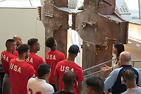 The U.S. MNT visits the National September 11th Memorial & Museum in New York City with members of the FDNY and NYPD soccer teams on September 5, 2018