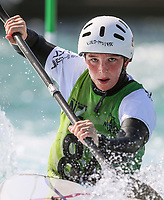 Alexandra Broome. Oceania Canoe Slalom Championships, Whero Whitewater Park, Auckland, New Zealand, 1st February 2020. Photo: Simon Watts/www.bwmedia.co.nz