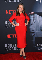 "LOS ANGELES, CA. October 22, 2018: Lauren White  at the season 6 premiere for ""House of Cards"" at the Directors Guild Theatre.<br /> Picture: Paul Smith/Featureflash"