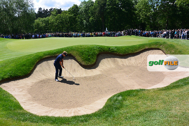 Luke Donald (ENG) during the final round of the BMW PGA championship, Wentworth Golf Club, Virginia Waters, London.<br /> Picture: Fran Caffrey www.golffile.ie