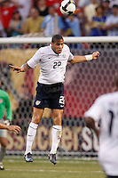 United States defender Oguchi Onyewu (22). The men's national teams of the United States and Argentina played to a 0-0 tie during an international friendly at Giants Stadium in East Rutherford, NJ, on June 8, 2008.