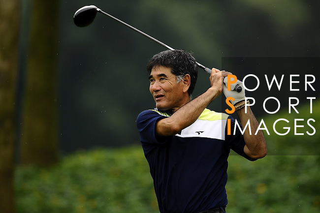 TAIPEI, TAIWAN - NOVEMBER 18:  Katsuyoshi Tomori of Japan tees off on the 12th hole during day one of the Fubon Senior Open at Miramar Golf & Country Club on November 18, 2011 in Taipei, Taiwan.  Photo by Victor Fraile / The Power of Sport Images
