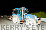 Ploughing champion Derek O'Driscoll as he arrives home to Causeway on Friday night.