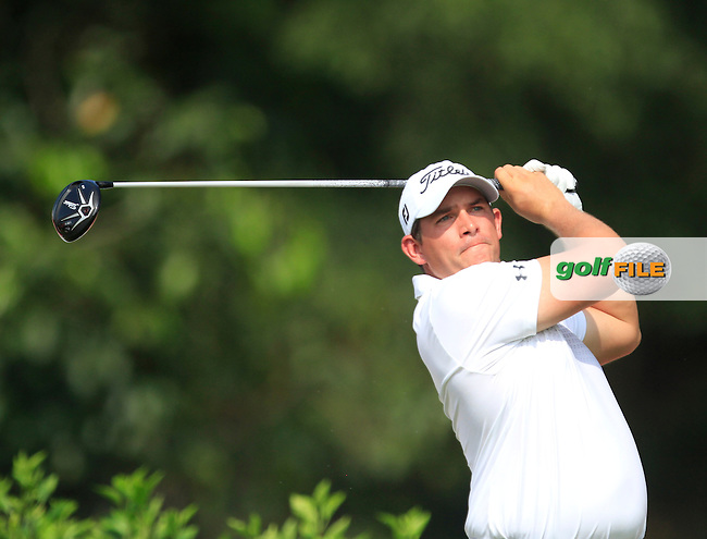 Scott Stallings (USA) on the 7th tee during Round 4 of the CIMB Classic in the Kuala Lumpur Golf &amp; Country Club on Sunday 2nd November 2014.<br /> Picture:  Thos Caffrey / www.golffile.ie