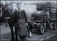 BNPS.co.uk (01202 558833)<br /> Pic: RachelAdams/BNPS<br /> <br /> Peter (right) on the milk cart in Hounslow at the age of 10. <br /> <br /> In a glass of his own...<br /> <br /> Dairy-daft Peter Hayward is udderly devoted to his bizarre hobby - collecting vintage milk bottles.<br /> <br /> The 70-year-old has devoted the last 30 years to building up a whopping collection of more than 1,000 bottles.<br /> <br /> Peter, a former dairy worker, scours the south west of Britain in search of rare bottles emblazened with the colourful logos of old dairies.<br /> <br /> And since retiring 16 years ago his collection has swelled so much that he has been forced to turn his garage into a mini museum.<br /> <br /> Peter's obsession with milk started as a 10-year-old when he helped his local milkman on his weekend rounds to earn some pocket money.<br /> <br /> He later joined Express Dairies as a distribution manager, working alongside hundreds of independent dairy farmers.<br /> <br /> When he retired in the late 1990s Peter had amassed a sizeable collection in his office - and decided to devote his free time to growing it.