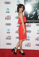 HOLLYWOOD, CA - NOVEMBER 12: Alison Brie at the AFI Fest 2017 Centerpiece Gala Presentation of The Disaster Artist on November 12, 2017 at the TCL Chinese Theatre in Hollywood, California. <br /> CAP/MPIFS<br /> &copy;MPIFS/Capital Pictures