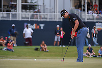 Beau Hossler (USA) watches his putt on 18 during round 4 of the 2019 Houston Open, Golf Club of Houston, Houston, Texas, USA. 10/13/2019.<br /> Picture Ken Murray / Golffile.ie<br /> <br /> All photo usage must carry mandatory copyright credit (© Golffile | Ken Murray)