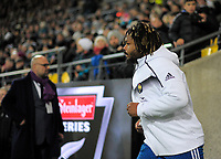 France's Mathieu Bastareaud leads his team out for the Steinlager Series international rugby match between the New Zealand All Blacks and France at Westpac Stadium in Wellington, New Zealand on Saturday, 16 June 2018. Photo: Dave Lintott / lintottphoto.co.nz