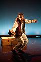 "London, UK. 13/02/2012. Cardboard Citizens present ""A Few Man Fridays"" at the Riverside Studios. Picture shows: Ansu Kabia (as Prosper). Photo credit: Jane Hobson"
