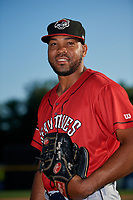 Erie SeaWolves pitcher Sandy Baez (30) poses for a photo before a game against the Harrisburg Senators on August 29, 2018 at FNB Field in Harrisburg, Pennsylvania.  Harrisburg defeated Erie 5-4.  (Mike Janes/Four Seam Images)
