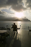 Sunset at the bar at the Princeville Resort, Kauai, Hawaii
