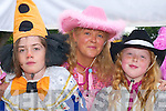 COSTUMES: Brian Crowley, Patricia OShea and Clona OShea clowning around at the Puck Fair parade in Killorglin on Friday..