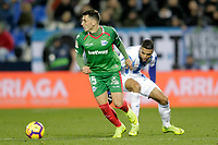 CD Leganes' Youssef En-Nesyri and Deportivo Alaves' Ximo Navarro (L)  during La Liga match. November 23,2018. (ALTERPHOTOS/Alconada) /NortePhoto.com