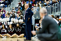 Washington, DC - MAR 10, 2018: Saint Joseph's Hawks head coach Phil Martelli  on the sideline during the semi final match up of the Atlantic 10 men's basketball championship between Saint Joseph's and Rhode Island at the Capital One Arena in Washington, DC. (Photo by Phil Peters/Media Images International)