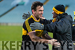 Ambrose O'Donovan Dr. Crokes players and supporters celebrate defeating Corofin in the Semi Final of the Senior Football Club Championship at the Gaelic Grounds, Limerick on Saturday.