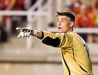 Dynamo goalkeeper Pat Onstad (18) in the Real Salt Lake 3-1 win over Houston Dynamo at Rice Eccles Stadium in Salt Lake City, Utah August 19, 2006
