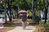 ATENCAO EDITOR FOTO EMBARGADA PARA VEICULO INTERNACIONAL - SAO PAULO, SP, 04 DE OUTUBRO 2012 - CLIMA TEMPO - Inicio de tarde com tempo aberto e quente na capital paulista, nesta quinta- feira (4). A temperatura hoje na capital paulista deve chegar aos 34ºC na regiao norte da capital paulista, nesta quinta-feira. FOTO: WILLIAM VOLCOV - BRAZIL PHOTO PRESS.